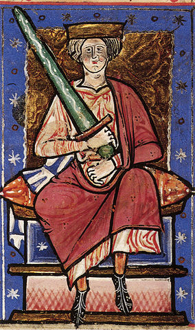 A most unfortunate 13th-century portrayal of Æthelred.
