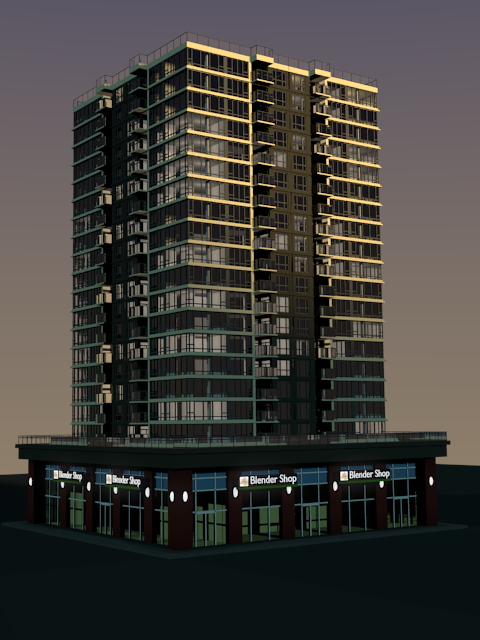 High rise building (partially finished)