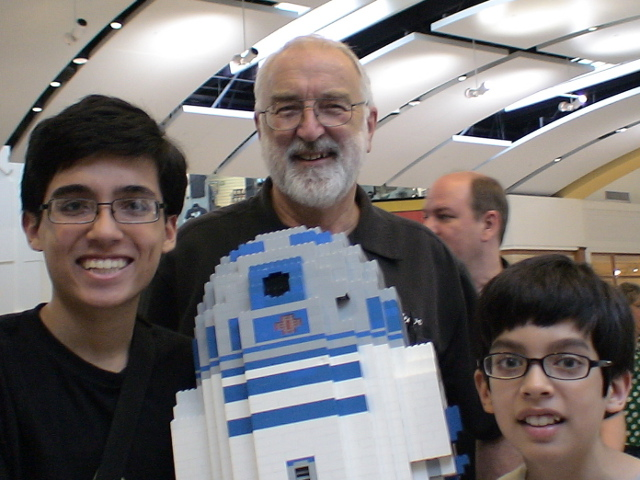 John and me with Artoo and Steve Gerling!
