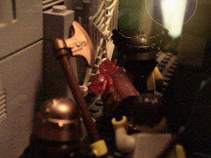 The sneaky spider about to maul Sven!