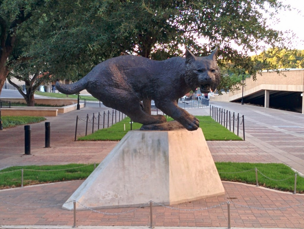 The school mascot, a bobcat.